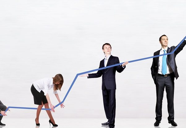 Image of group of professionals on blog page (health and life insurance agents) being successful