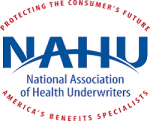 Logo for National Association of Health Underwriters, an organization that provides resources for Health and Life Insurance Agents